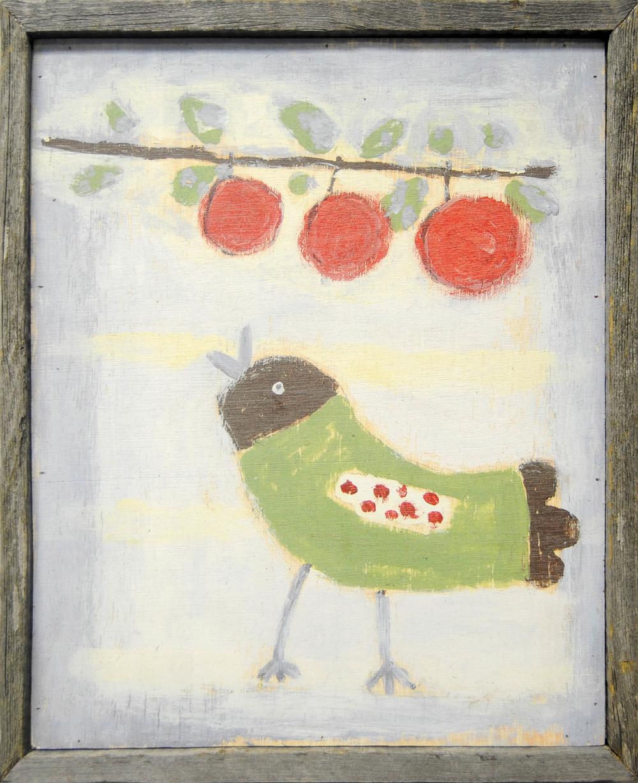 Bird With Cherries