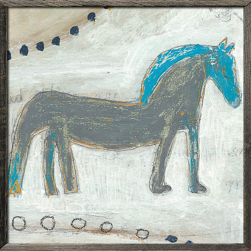 Horse With Blue Mane