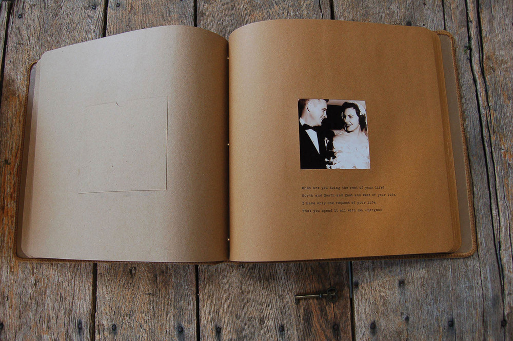 "Heirloom Leather Photo Album ""For the Ones I Love"" (inside)"