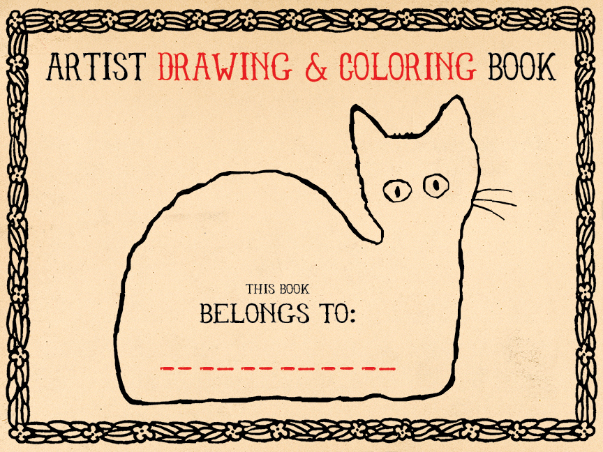 Artists Drawing & Coloring Book