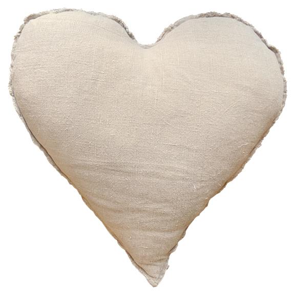 HEART SHAPED PILLOW (FRAYED EDGES)