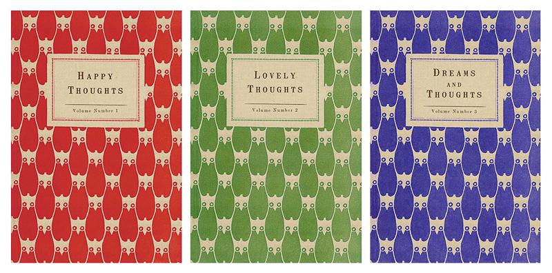Set of 3 Owl Journals