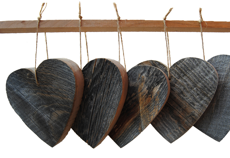 RECLAIMED HEARTS (SET OF 6)