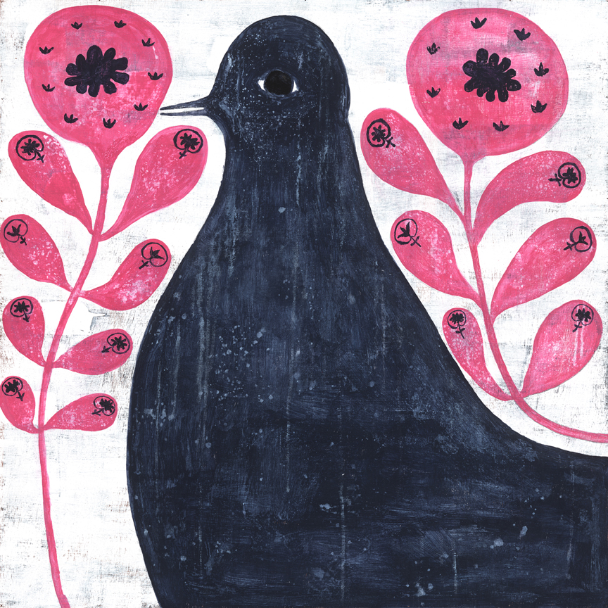 BlackBirdInFlowers_12x12_LR.jpg