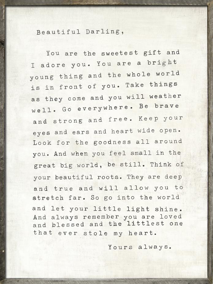 Letter For Sophie