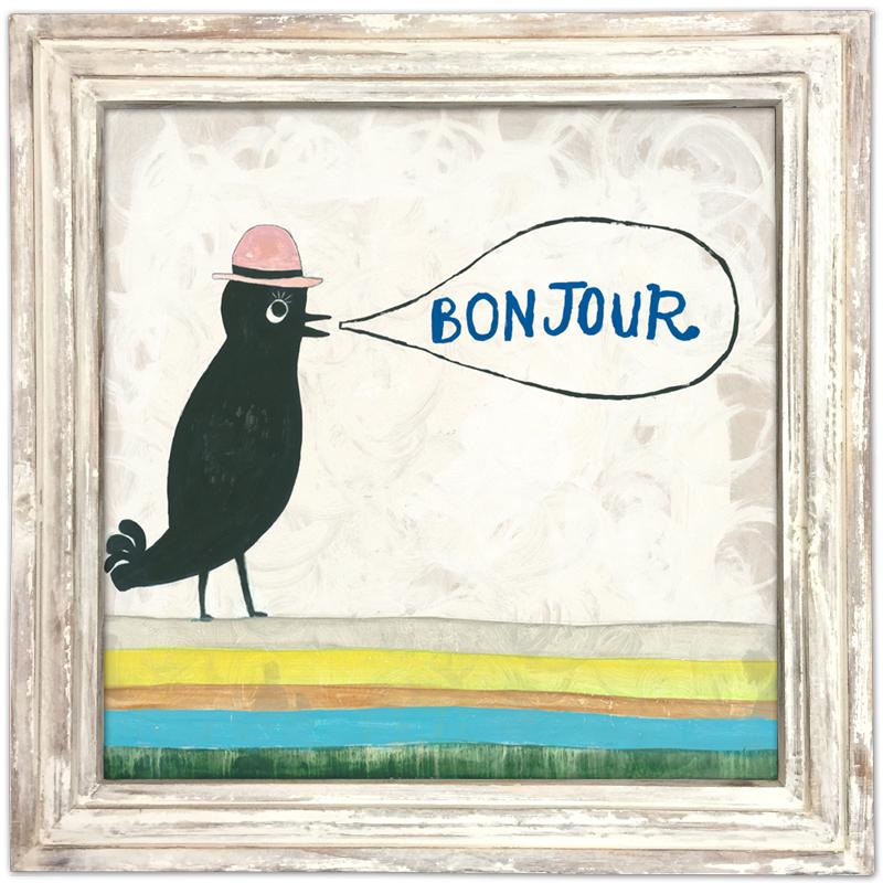 Bonjour - White Wash Frame
