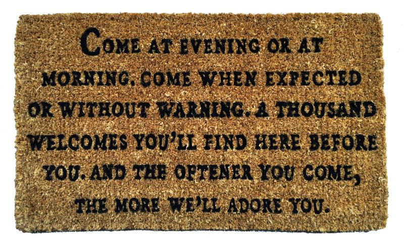 Come At Evening - Door Mat
