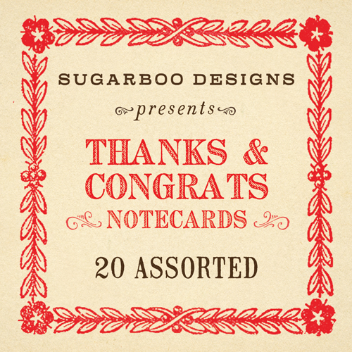 Thanks & Congrats Notecard Set