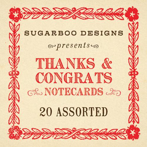 Thanks & Congrats Notecard Set