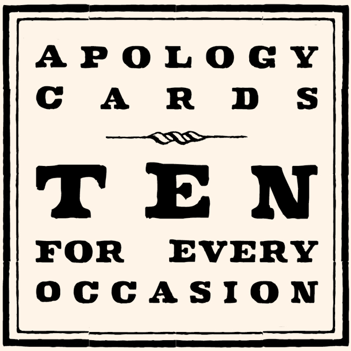 Apology Notecard Set