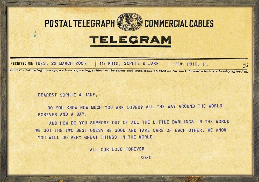 Custom Telegram Print