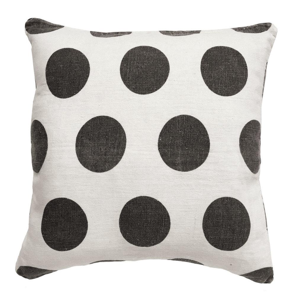 Polka Dots - Cream Linen