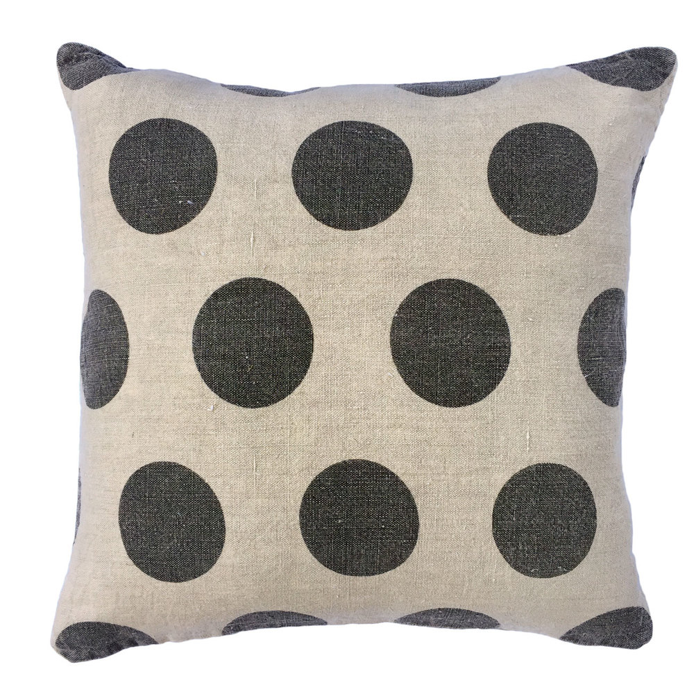 Polka Dots - Stone Washed Linen