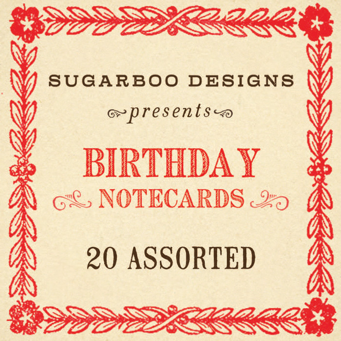 Birthday Notecard Set