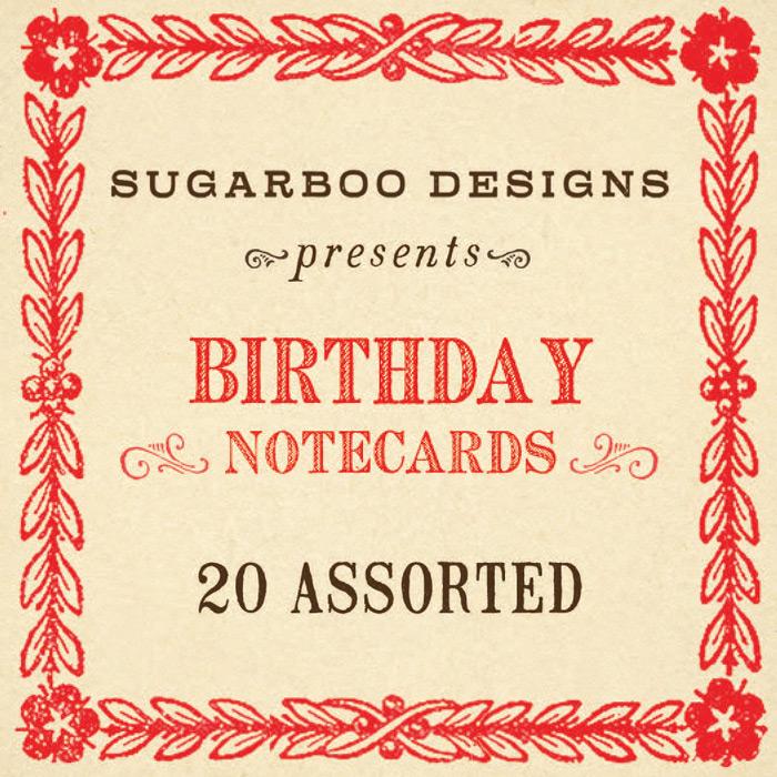 Birthday Notecard Set