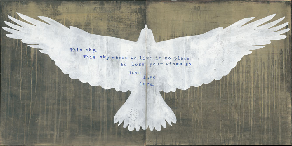 This Sky by Hafiz (two panels)