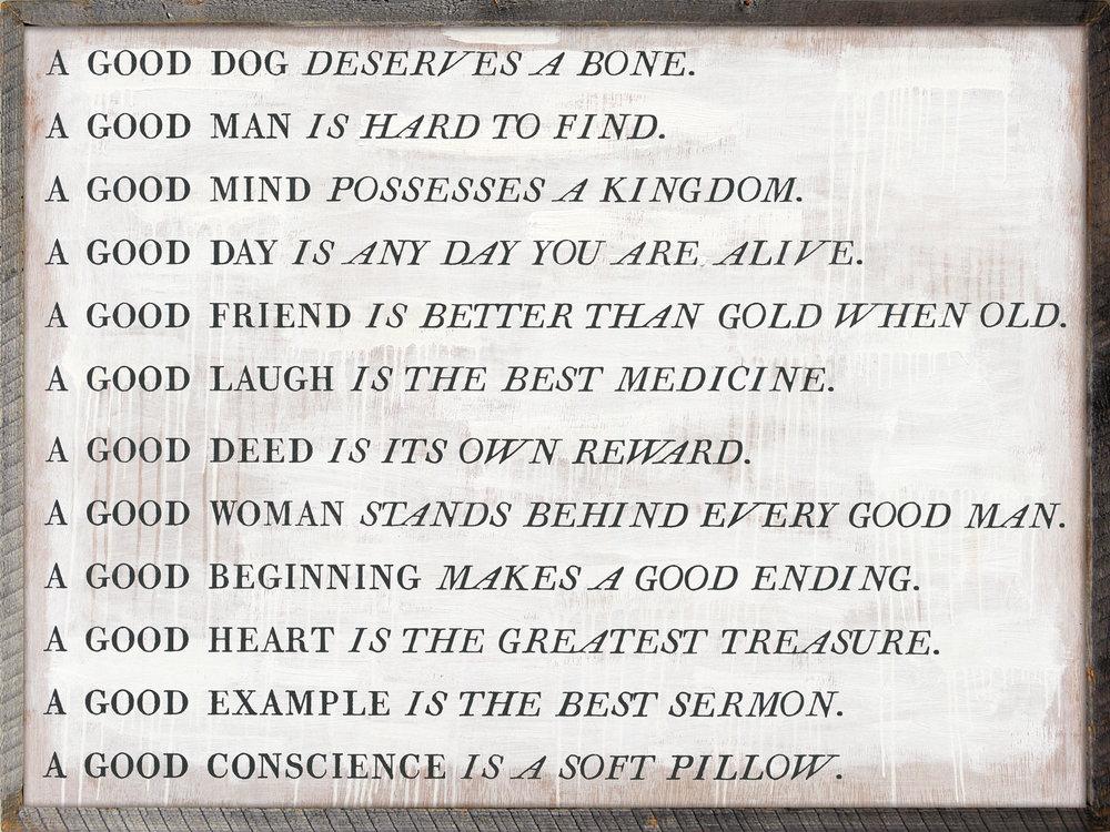A Good Proverb