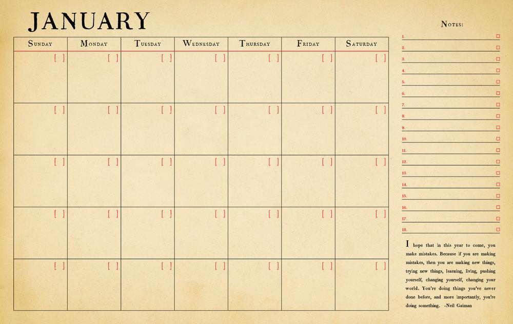 2 Year Perpetual Desk Calendar