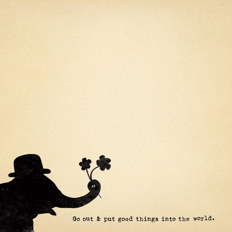 Put Good Things into the World Mini Pad