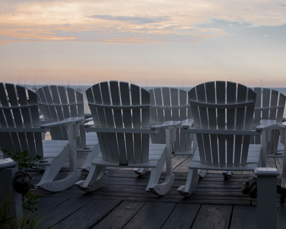 """Waiting For Sunrise - At the Red Inn Provincetown MA quiet morning waiting for sunrise"", photographic print, 20""H x 26""W"