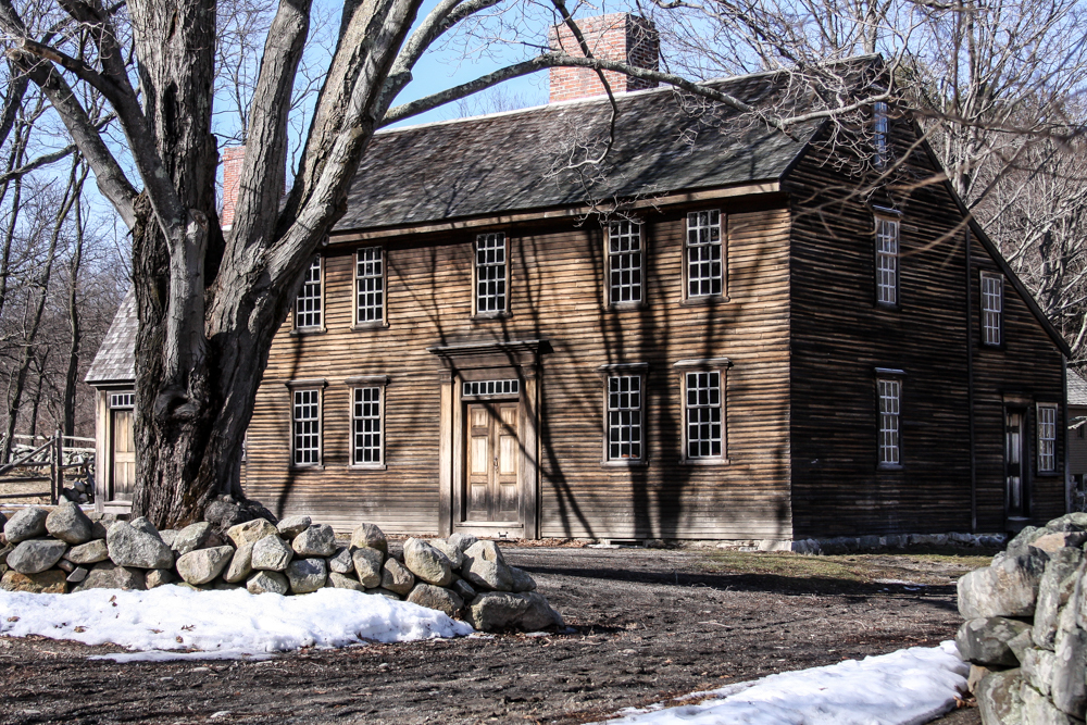 """Witness to War - Hartwell Tavern on the main road in Concord MA at the start of the revolutionary war"", photographic print, 20""H x 26""W"