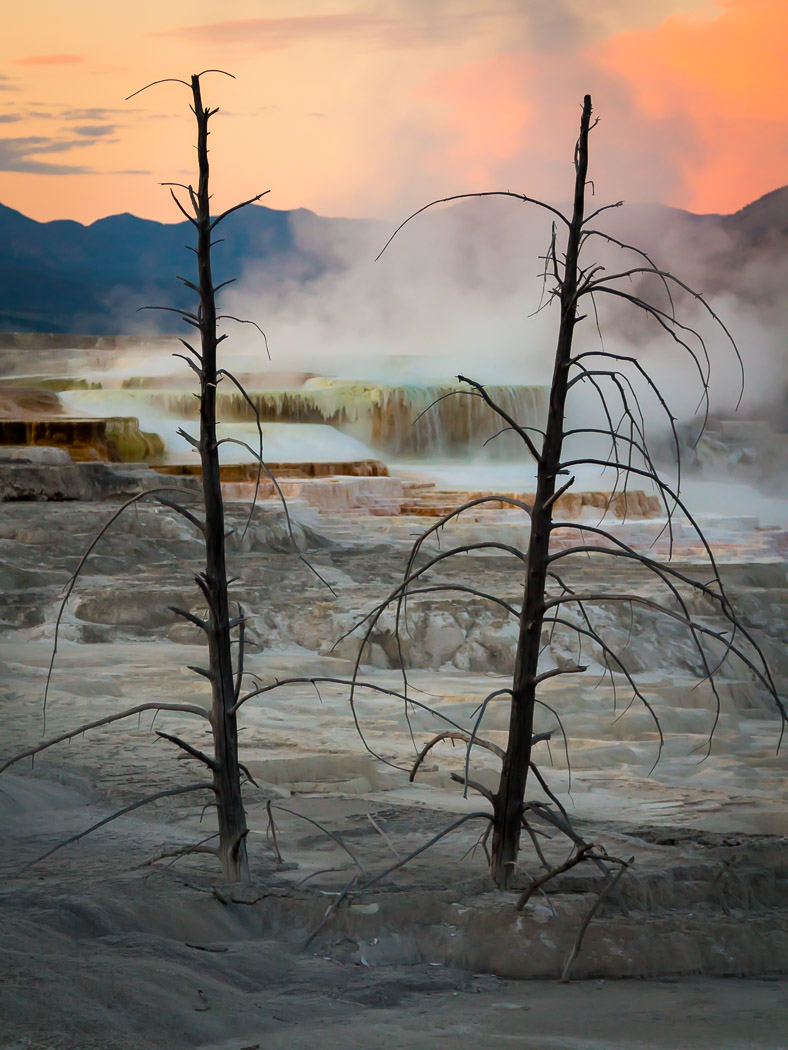 """Hot Spring Sunset"", framed gallery wrap, 24""H x 18""W"
