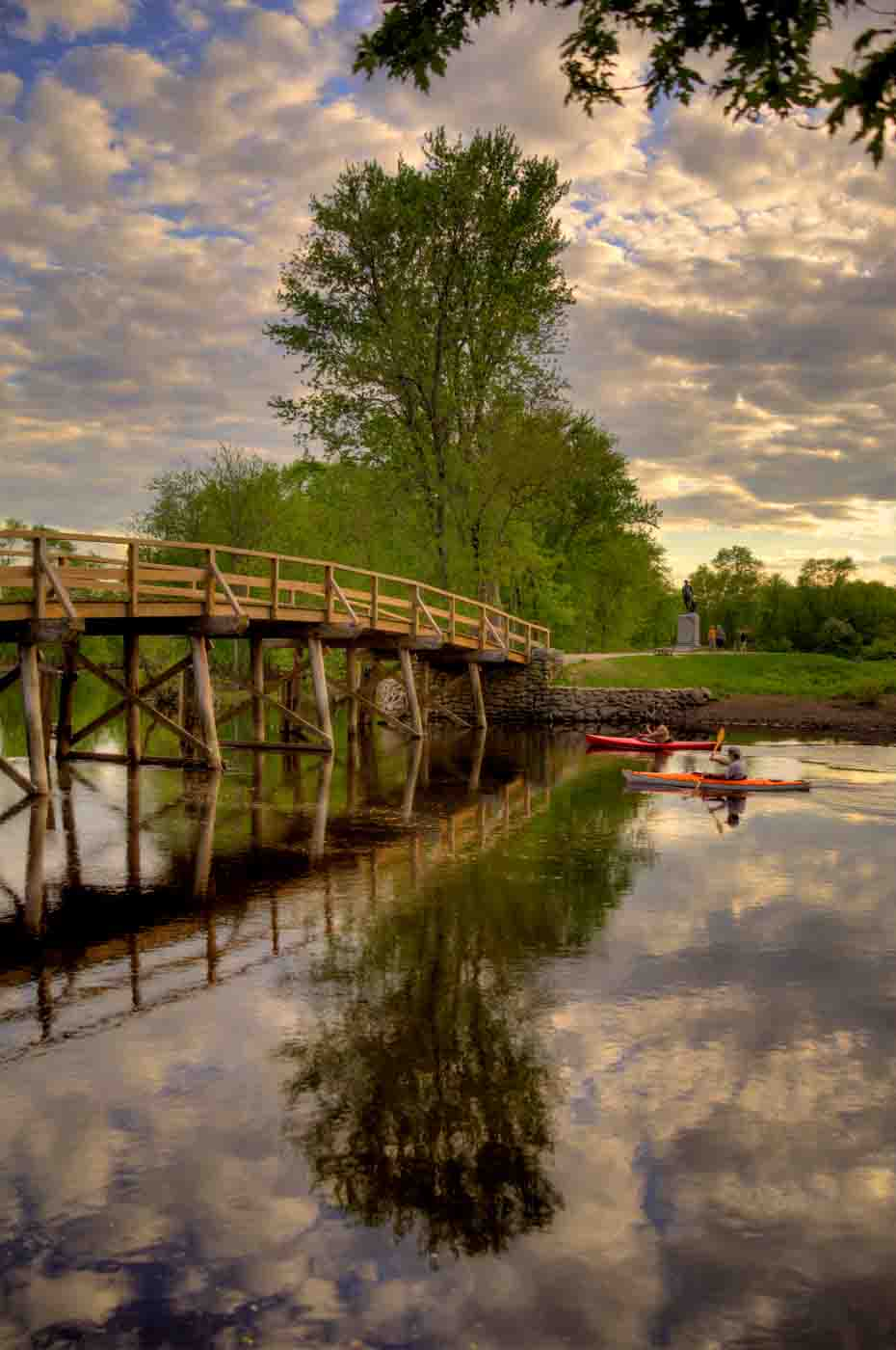 """Concord River Bridge"", canvas wrap, 32""H x 24""W"