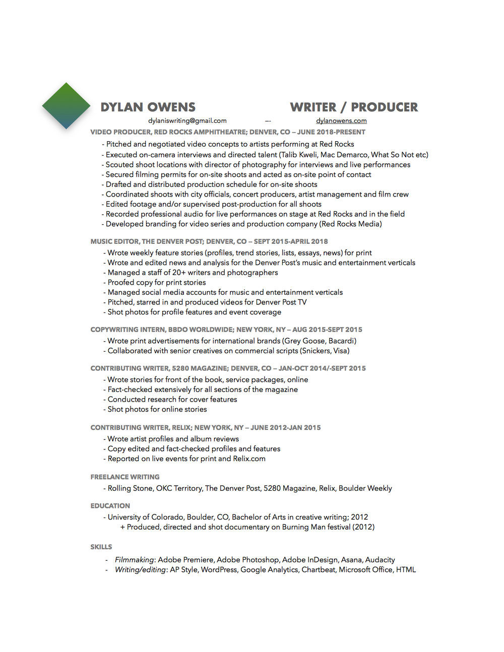 By Photo Congress || How To Do A Resume 2018