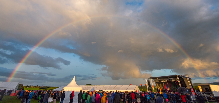 Rainbow over Chagstock 2017