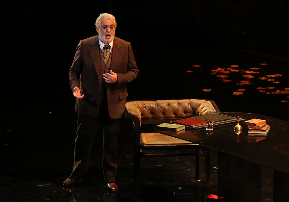 Plácido Domingo as Giorgio Germont, Alfredo's father in La Traviata (LA Opera, 2014)