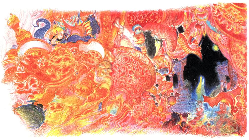 "Final Fantasy VI Opera ""Maria and Draco"" Artist: Yoshitake Amano"