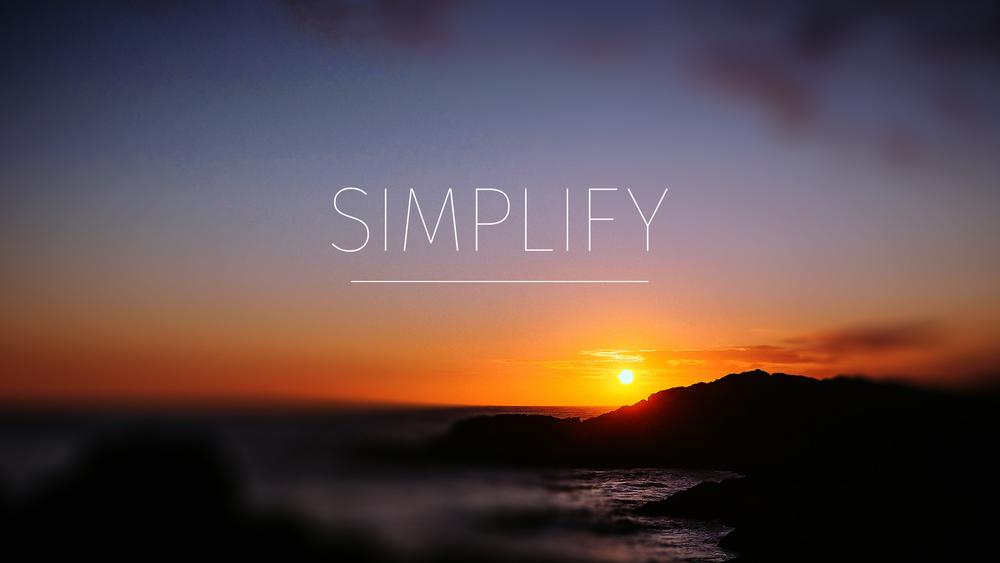 Simplify Series Slide