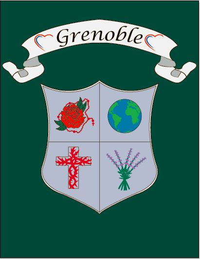 The  Grenoble  house is named for the French city where Saint Madeleine Sophie Barat founded the second school of the Sacred Heart.  Grenoble also hold significance as it is the birthplace of Saint Rose Philippine Duchesne who founded the first Sacred Heart School in the United States.