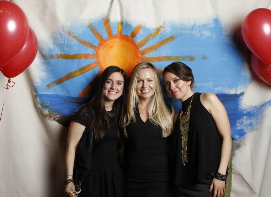Alicia, Sarah Emerson and I at the Premier Party of the What Joy Project.