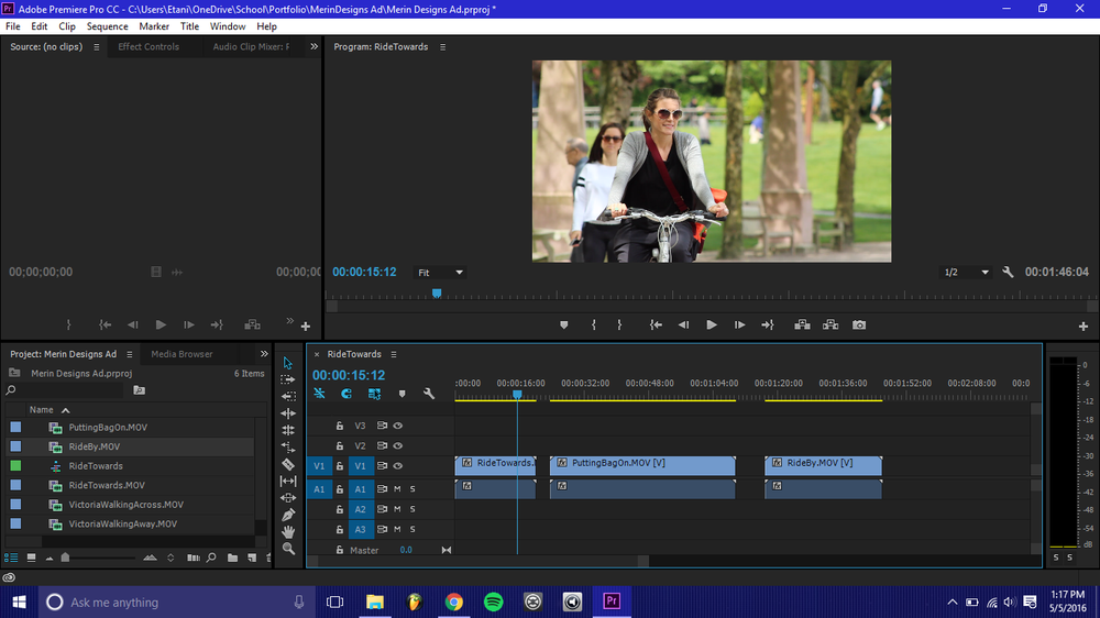 Screenshot of the editing