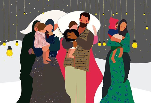"Reposting this illustration that I made last year when the refugee in Europe situation was getting worst by the minute. It seems fitting to repost right now. Because children are our future and my future kids will be a part of that reality. And because trauma like the one thousands of families have experienced in the American boarder these past months will be irreparable. Families Belong together. This country won't ever become ""the land of the free"" or ""the greatest country on Earth"" until everyone is treated equal and there is some compassion towards the less fortunate/privileged. I've been deeply affected by this. Because the thought of children suffering makes me sick to my stomach.  I really really do care.  #familiesbelongtogether #familiesaresacred"