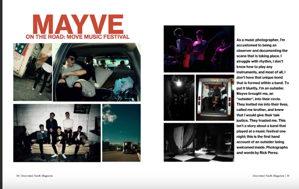 On the Road with Mayve at the Move Music Festival   Decorated Youth Magazine, Issue 13, Page 38 2016