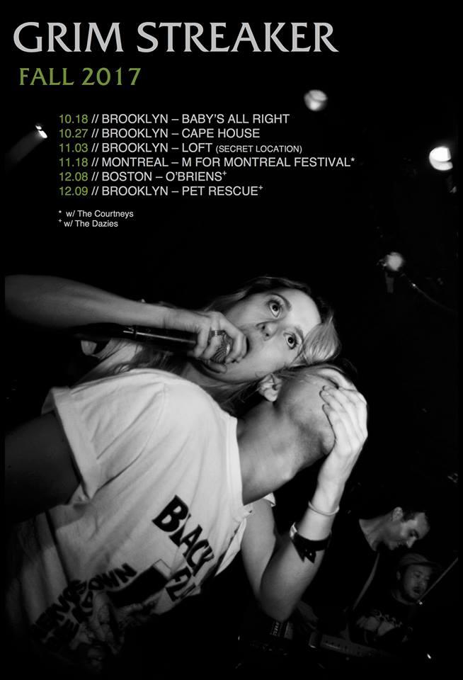 Grim Streaker's tour poster