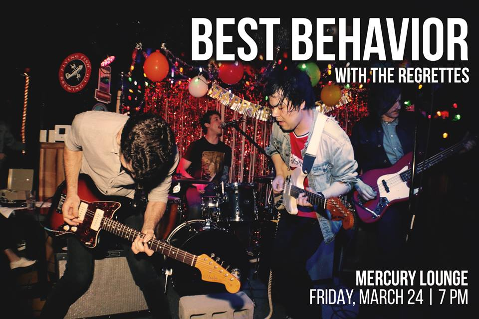 Best Behavior and the Regrettes gig poster