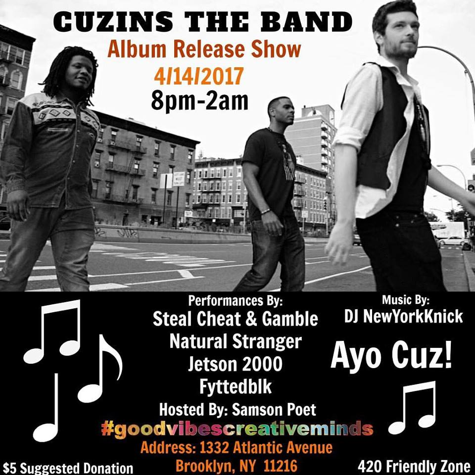 Cuzins the Band gig poster