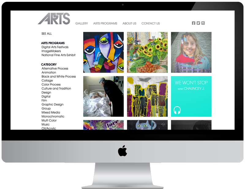 BCGA Arts Website Art Direction: Karen Stein / GoodGood