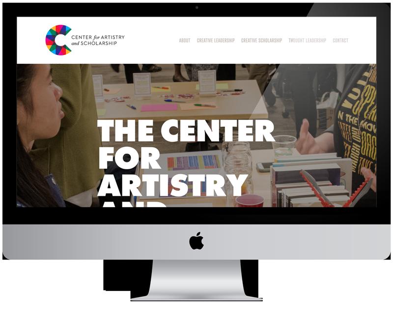 Center for Artistry and Scholarship Website Art Direction: Karen Stein / GoodGood
