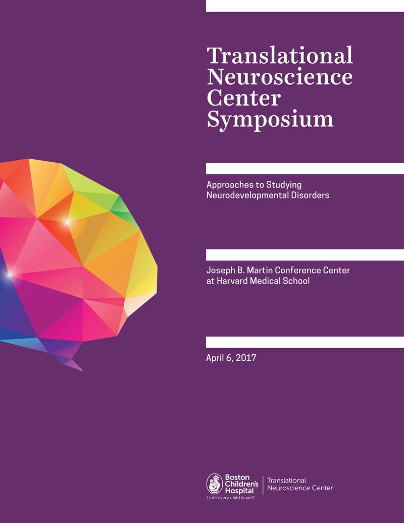 Translational Neuroscience Center Symposium Program Art Direction: Grossman Marketing