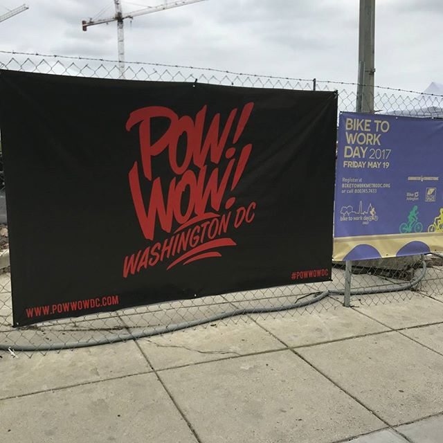 #powwowdc in #NoMa. got here a lil late but still a lot of great local talent, art, food, and people.  recap and merch haul coming soon. #projectillyx #creativedc #creative #illyx #DC #talent