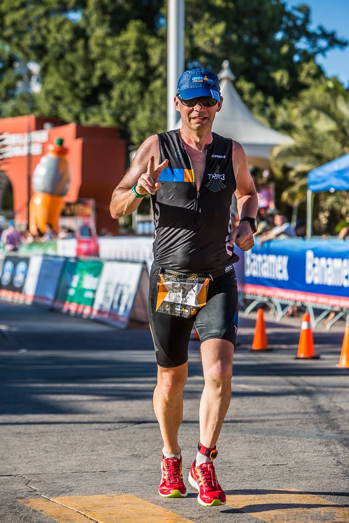 Andrew Duggan, CEO of Equal Earth, racing Ironman in 2014.
