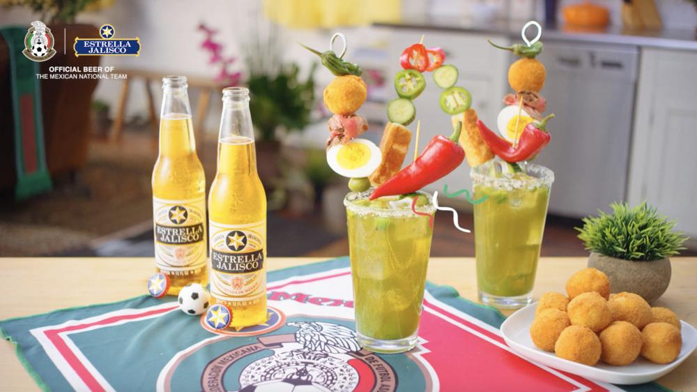Senior Art Direction of World Cup Micheladas with Estrella Jalisco - Client: Estrella Jalisco