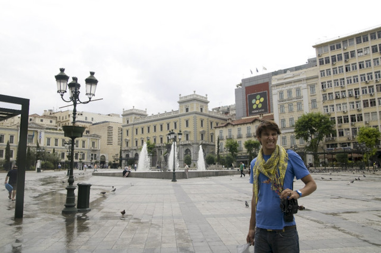 Syntagma Square, a very memorable place for Tyler.  He passed by this place almost everyday.