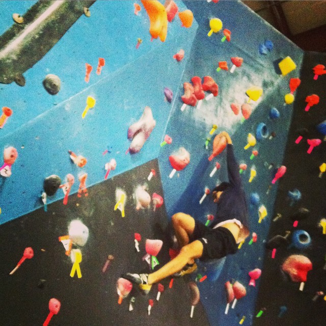 I've been bouldering one full year as of this month and today I sent my first V7!  @thecircuitgym