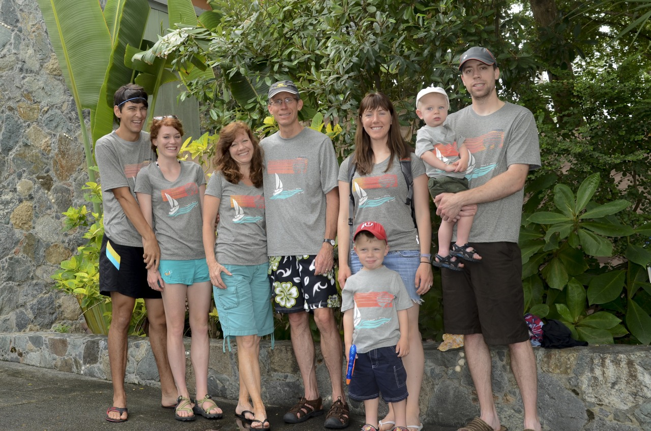 Tyler put his screen printing skills to work by making the honorary, cheesy family vacation T-shirts.