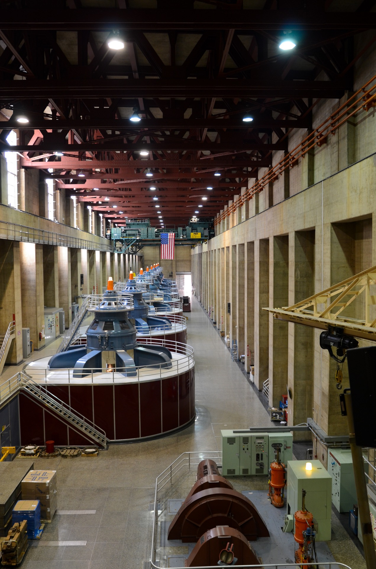 Inside Hoover Dam's power plant
